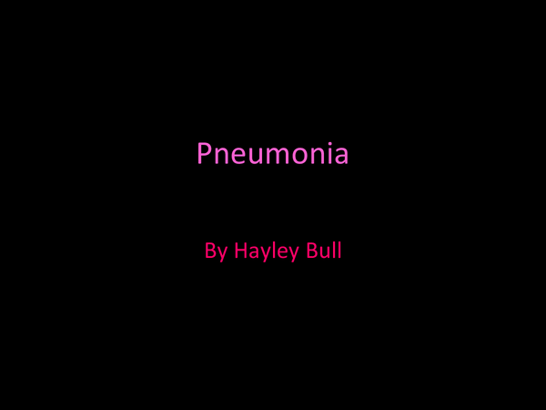 Preview of pneumonia Powerpoint- BTEC Diploma in sports