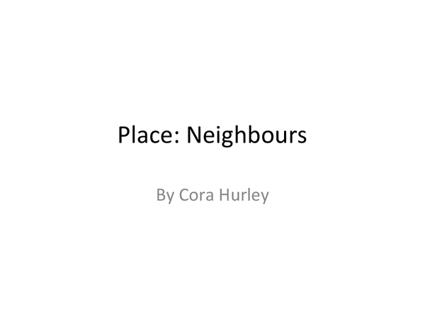 Preview of Poetry Cluster Place: Analysis of Neighbours