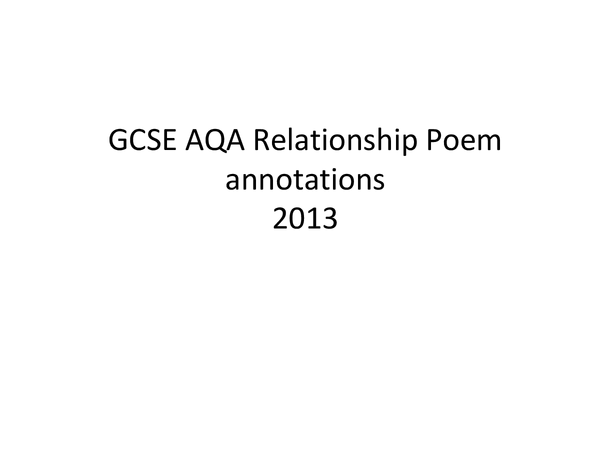 Preview of Poetry Relationships