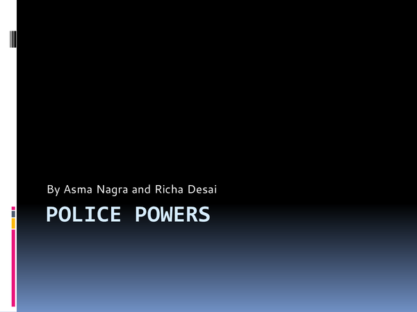 Preview of Police powers
