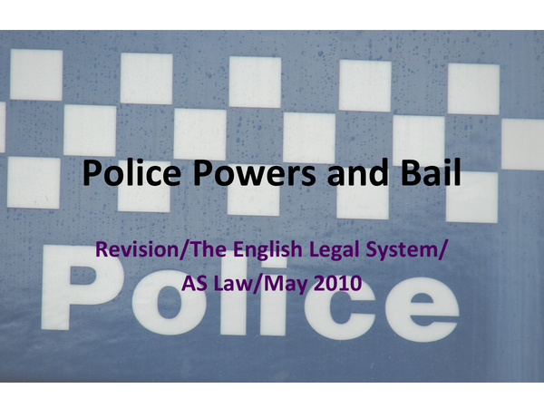 Preview of Police Powers and Bail