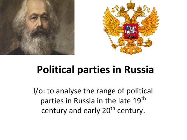 Preview of political parties in russia