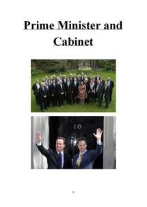 Preview of Politics Unit 2 - Prime Minister and Cabinet Notes