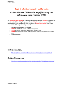 Preview of Polymerase Chain Reaction