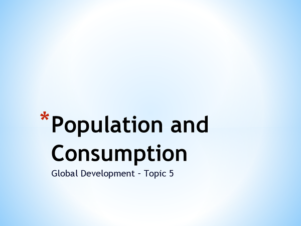 Preview of Population and Consumption