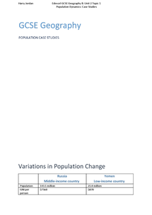 Preview of Population Case Studies