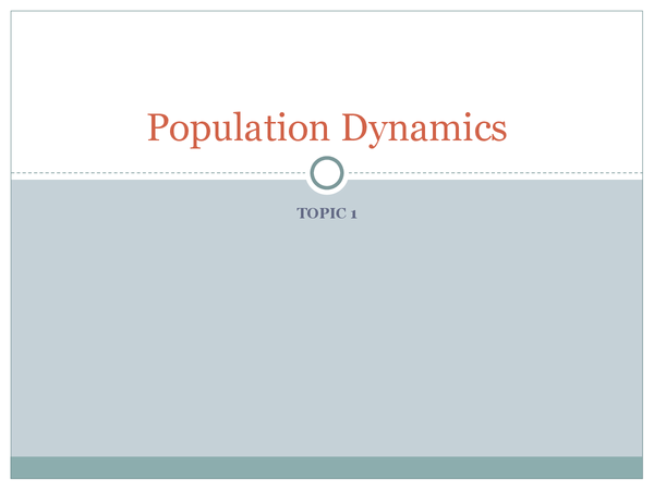 Preview of Population Dynamics GCSE