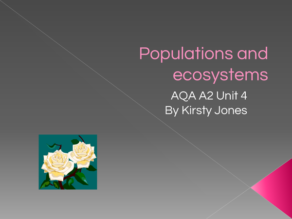 Preview of Populations and Ecosystems