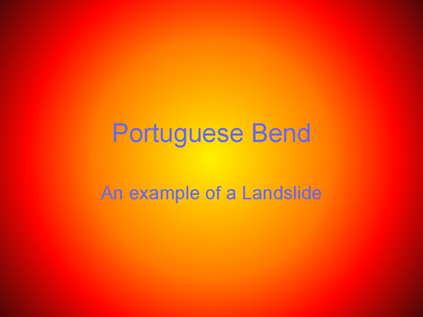 Preview of Portuguese bend, Example / Case Study.