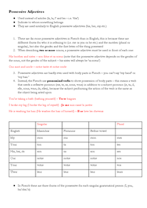 Preview of Possessive Adjectives: French Grammar