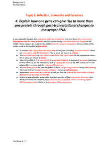 Preview of Post-transcriptional changes