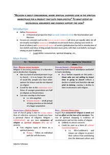 postmodernism essay plan document in a level and ib sociology page 1