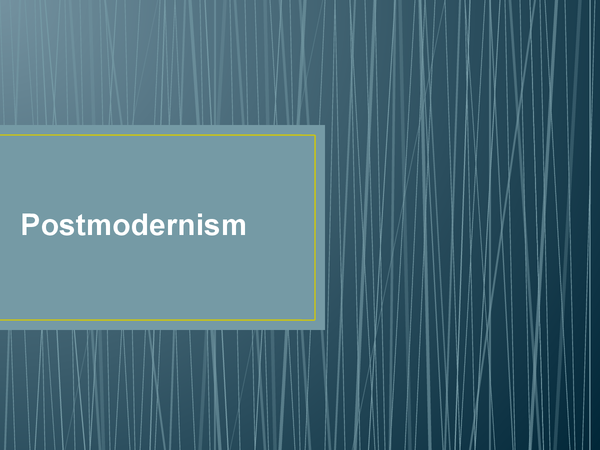 Preview of Postmodernism