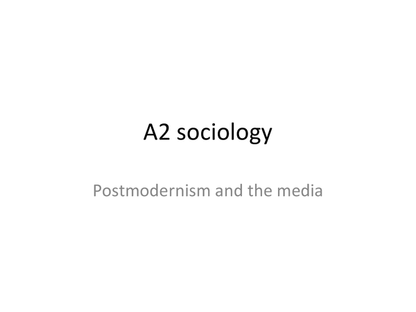 Preview of Postmodernism and the Media