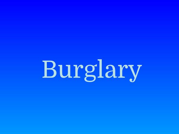 Preview of Powepoint on Burglary
