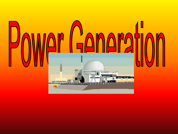 Preview of power generating