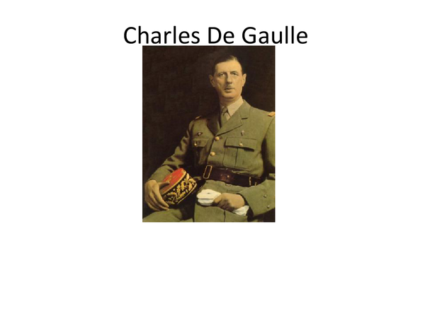 Preview of Powerpoint Charles De Gaulle