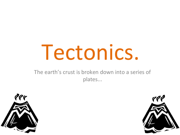 Preview of Powerpoint for Tectonis.