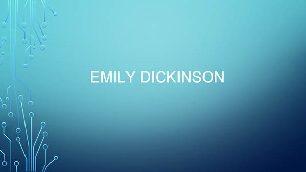 Preview of Powerpoint on all set poems of Emily Dickinson