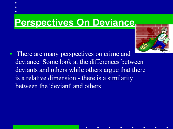 Preview of Powerpoint on Crime and deviance