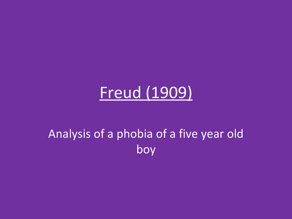 Preview of Powerpoint on Freud