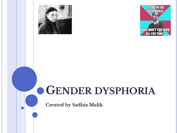 Preview of Powerpoint on gender dysphoria