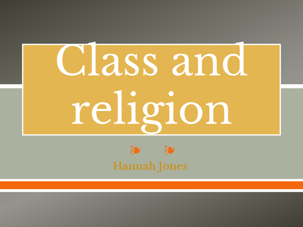 Preview of Powerpoint on religion and class.