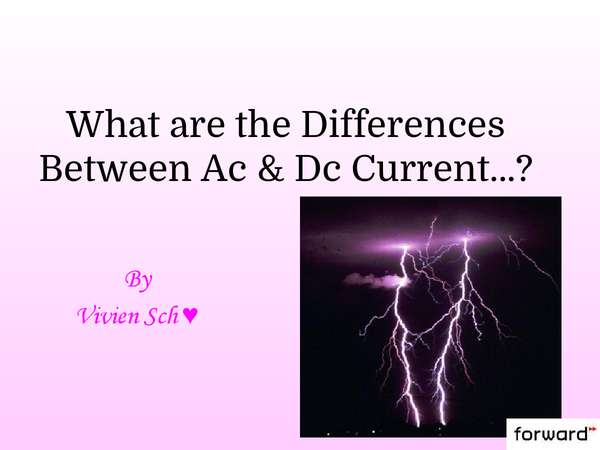 Preview of Powerpoint on the differences between AC and DC Current