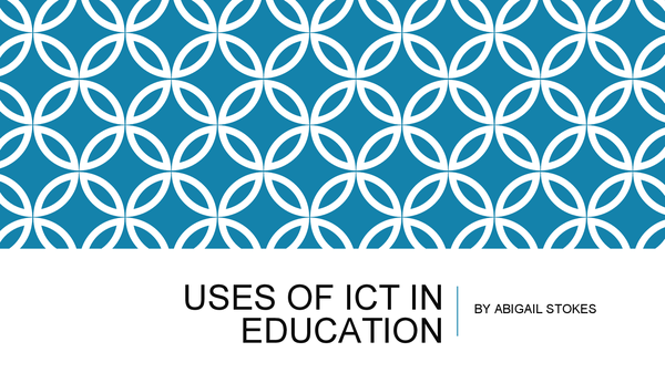 Preview of Powerpoint on Topic 6B Uses of ICT in Education WJEC AS LEVEL ICT EXAM