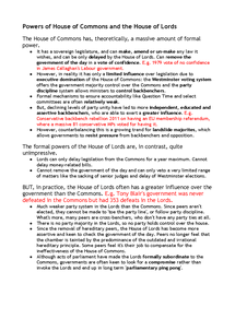 Preview of Powers of the House of Commons and the House of Lords