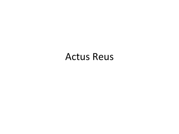 Preview of PPP for Actus Reus