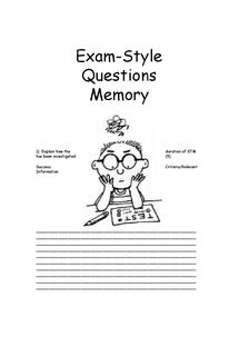 Preview of PRACTICE REVISION QUESTIONS- unit 1 Memory