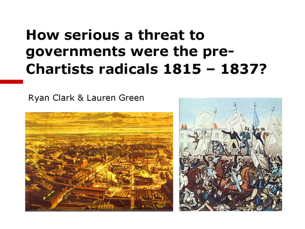 Preview of Pre-Chartist Radicals, 1815-1820 (Condition of England Unit, OCR)