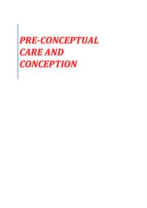 Preview of Pre-Conceptual Care & Conception
