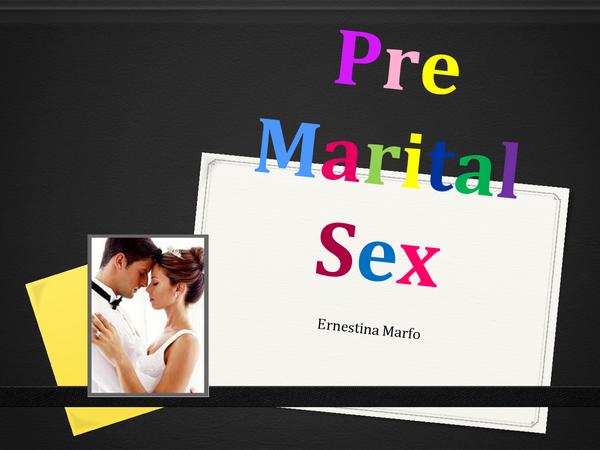 Preview of Pre Martial Sex