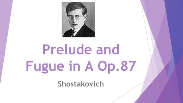 Preview of Prelude & Fugue in A - Shostakovich