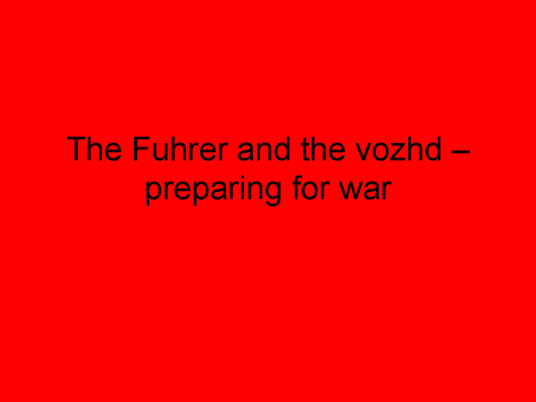 Preview of Preparing for War - Stalin's Russia Edexcel history