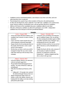Preview of Presidential Debates Notes with examples