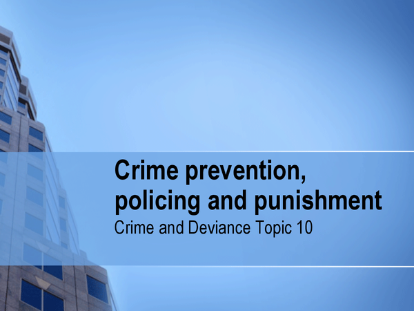 Preview of Preventing, Policing and punishment