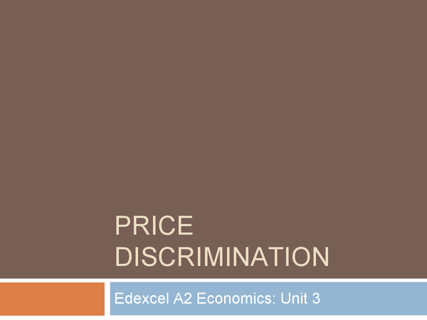 Preview of Price Discrimination