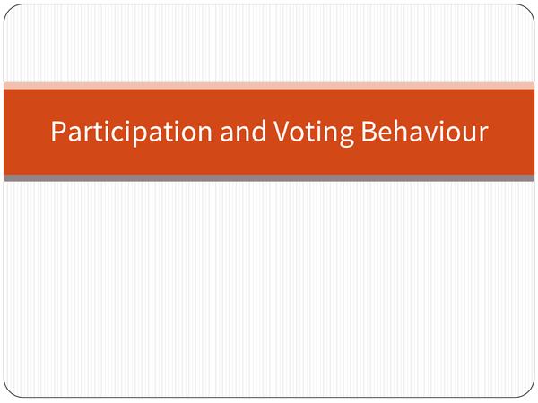 Preview of Primacy factors affecting voter behaviour