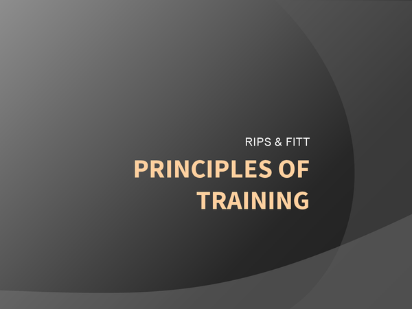 Preview of Principles of Training