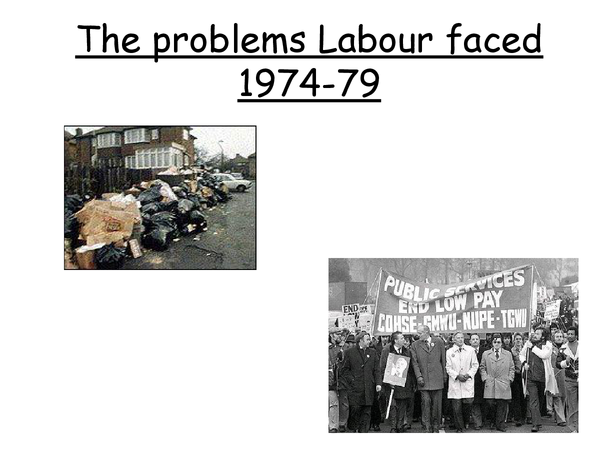 Preview of problems labour faced 1974-79