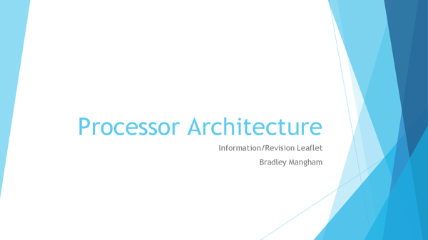 Preview of Processor Architectures