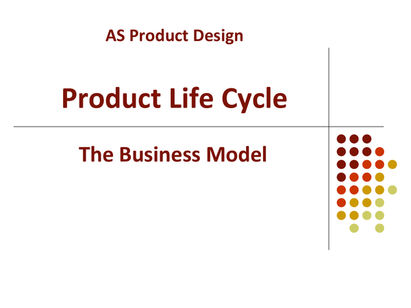 Preview of Product Life Cycle (Powerpoint) - Product Design AS