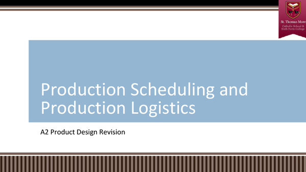 Preview of Production Scheduling and Production Logisitcs