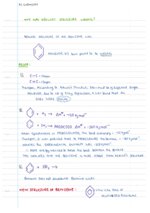 Preview of Proof of Benzene structure and Summary of Benzene reactions
