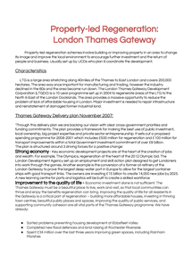 Preview of Property-led regeneration - London Thames Gateway case study