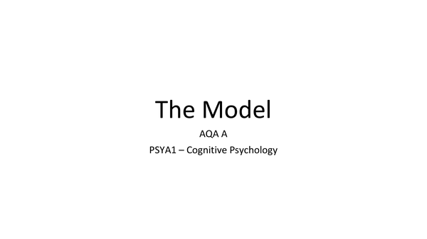 Preview of PSYA1 -  MSM Notes