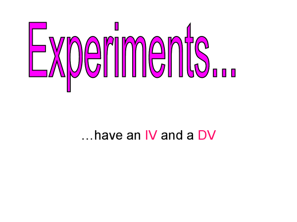 Preview of psya1 - reseach methods, focus on experiments